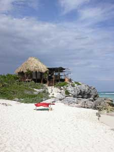 beach next to azulik hotel in tulum